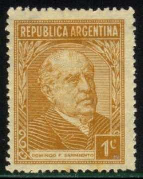 Argentina #419 Domingo Sarmiento, used (0.25)