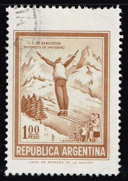Argentina #938 Ski Jumper; Used (0.25)