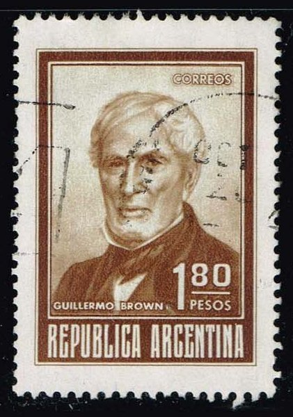 Argentina #941 Guillermo Brown; Used (0.25)