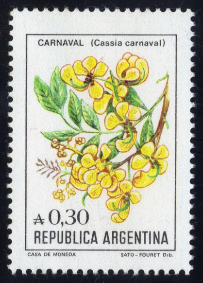 Argentina #1522 Flowers, MNH (0.50)