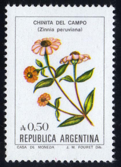 Argentina #1523 Flowers, MNH (0.80)