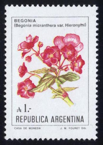Argentina #1524 Flowers; MNH (1.00)