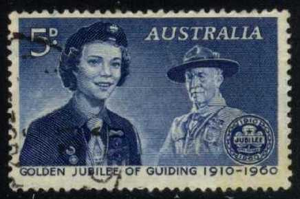 Australia #335 Girl Guides 50th Anniv.; used (0.25)
