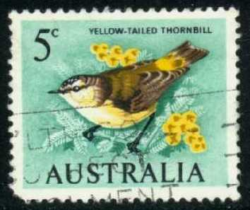 Australia #400 Yellow-Tailed Thornbill, used (0.25)