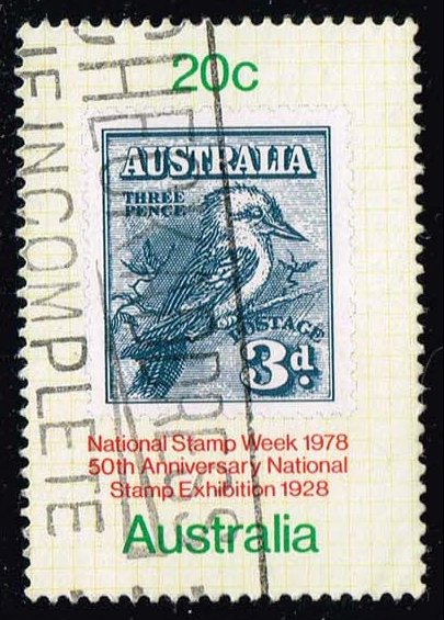 Australia #687 Kookabura Stamp on Album Page; Used (0.25)