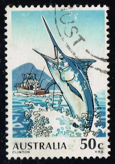 Australia #724 Black Marlin Fishing; used (0.85)