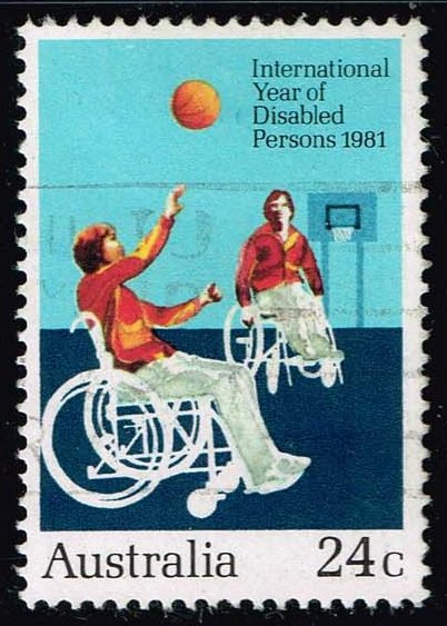 Australia #810 Handicapped Playing Basketball; Used (0.30)