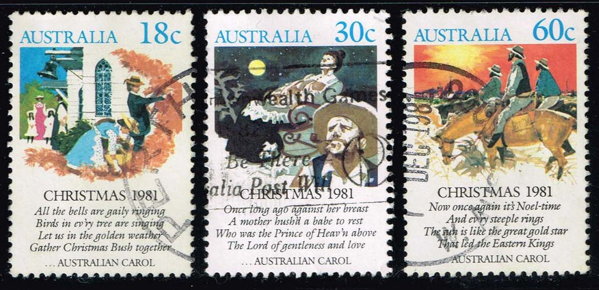 Australia #811-813 Christmas Carols Set of 3; Used (1.80)