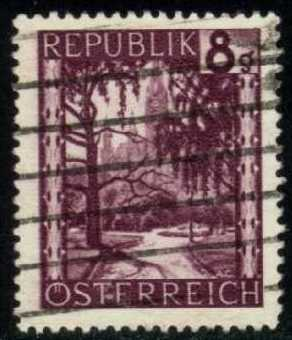 Austria #483 City Hall Park, used (0.25)