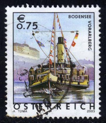 Austria #1873 Ship in Lake Constance; used (1.40)