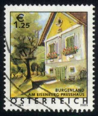 Austria #1877 Wine Press House; Eisenberg; used (2.50)