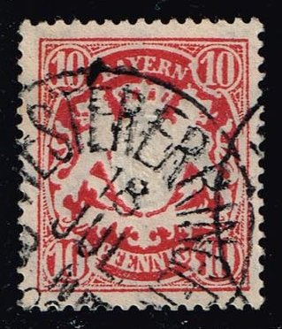 Germany-Bavaria #63 Coat of Arms; used (0.80)