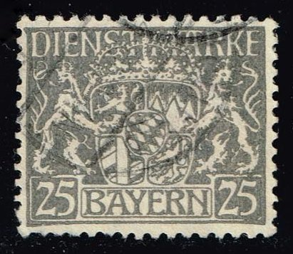 Germany-Bavaria #O15 Coat of Arms; used (0.65)