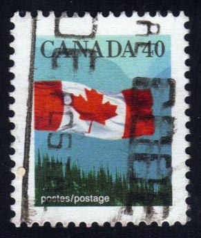 Canada #1169 Flag and Mountains, used (0.25)