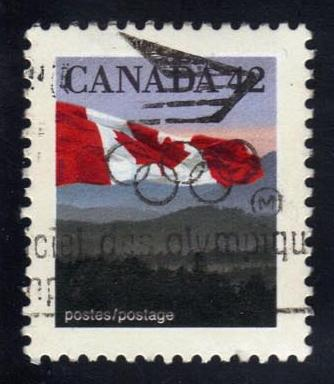 Canada #1356 Flag and Hills, used (0.25)