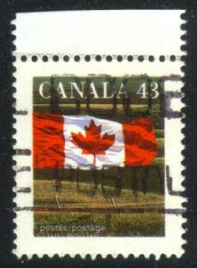 Canada #1359c Flag and Prairie; used (0.25)