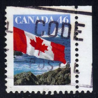 Canada #1682 Flag over Icebergs, used (0.25)