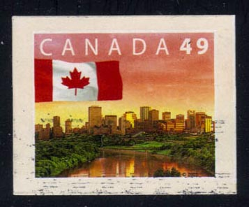 Canada #2011 Flag over Edmonton, Alberta, used (0.25)
