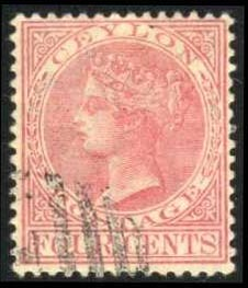 Ceylon #89 Queen Victoria, used (13.50)