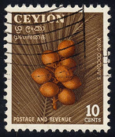 Ceylon #329 King Coconuts, used (0.25)