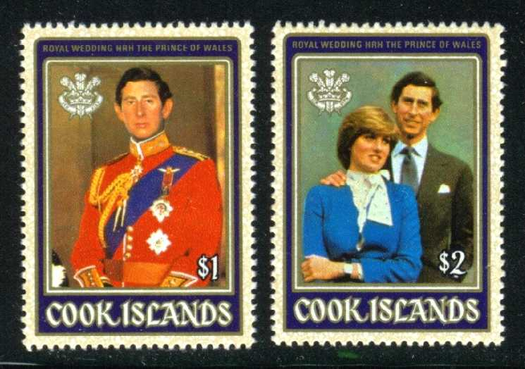 Cook Islands #659-660 Royal Wedding; MNH (2.10)