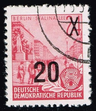 Germany DDR #223A Stalin Boulevard; CTO (0.25)