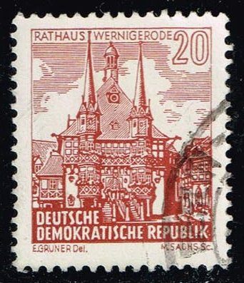 Germany DDR #538 City Hall in Wernigerode; used (0.25)