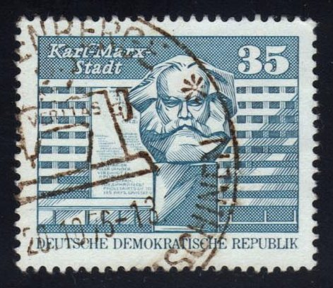 Germany DDR #1436 Karl Marx Monument, CTO (0.30)
