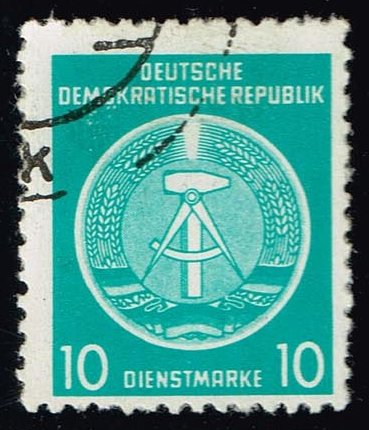 Germany DDR #O4 Arms of the Republic; CTO (0.25)