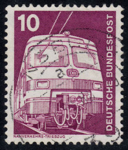Germany #1171 Electric Train, used (0.25)