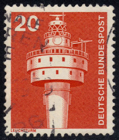 Germany #1172 Old Weser Lighthouse, used (0.25)
