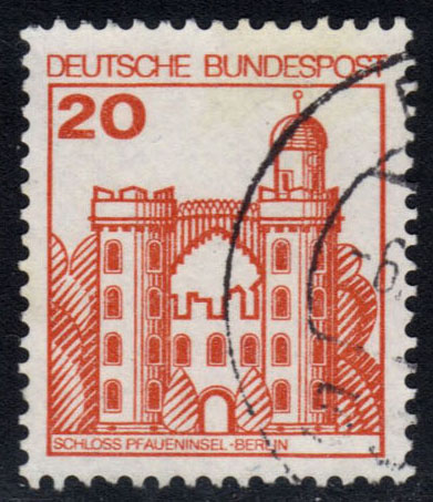 Germany #1232 Pfaueninsel Castle, used (0.25)