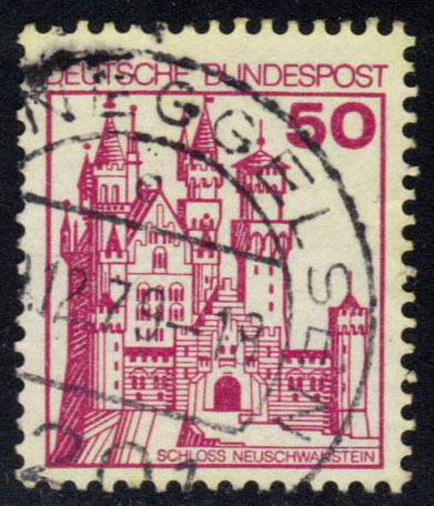 Germany #1236 Neuschwannstein Castle, used (0.25)