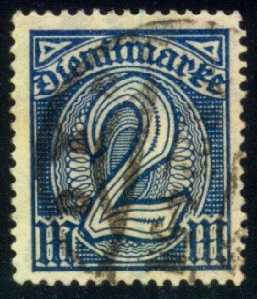 Germany #O12 Official - Numeral, used (3.00)