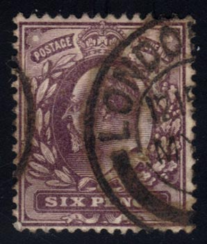 Great Britain #135 King Edward VII, used (10.00)