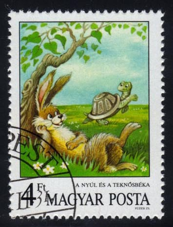 Hungary #3104 Tortoise and the Hare, CTO (0.50)