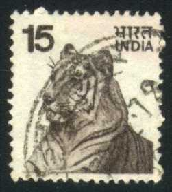 India # 671 Tiger; used (0.25)