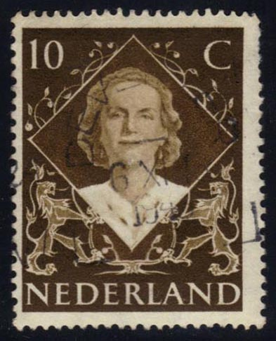 Netherlands #304 Queen Juliana, used (0.25)