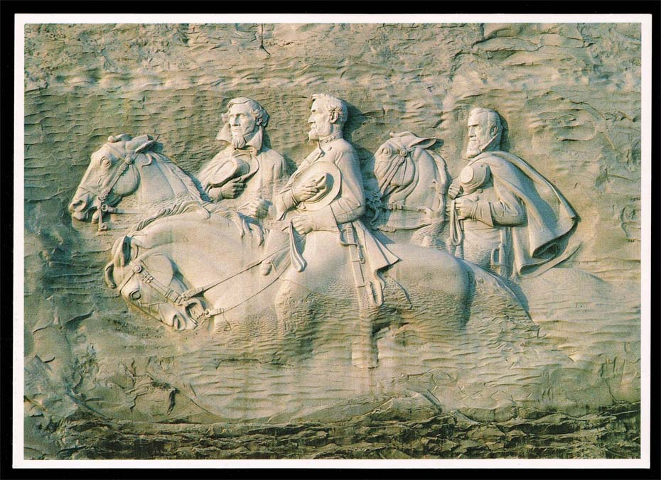 US Postcard - Stone Mountain Park Confederate Memorial