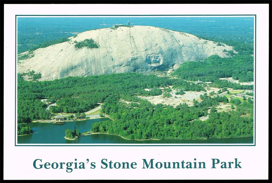US Postcard - Aerial View of Stone Mountain Park Memorial