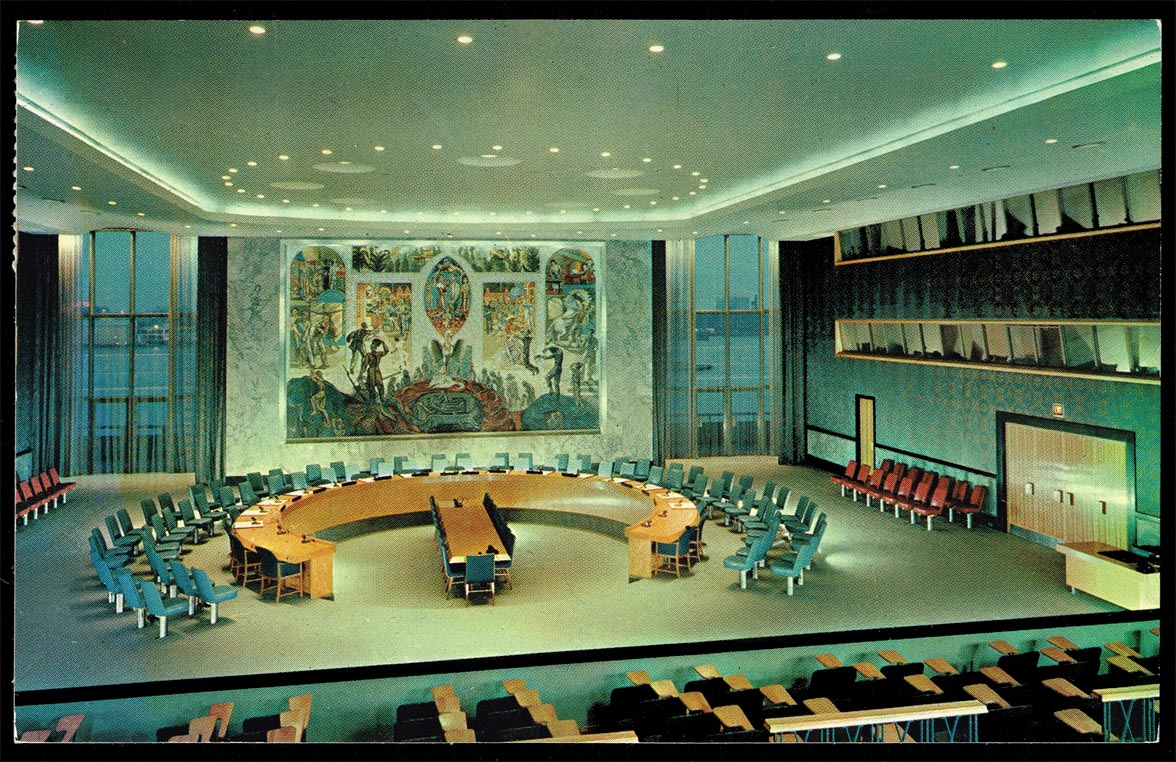 Postcard - New York-United Nations Security Council Chamber