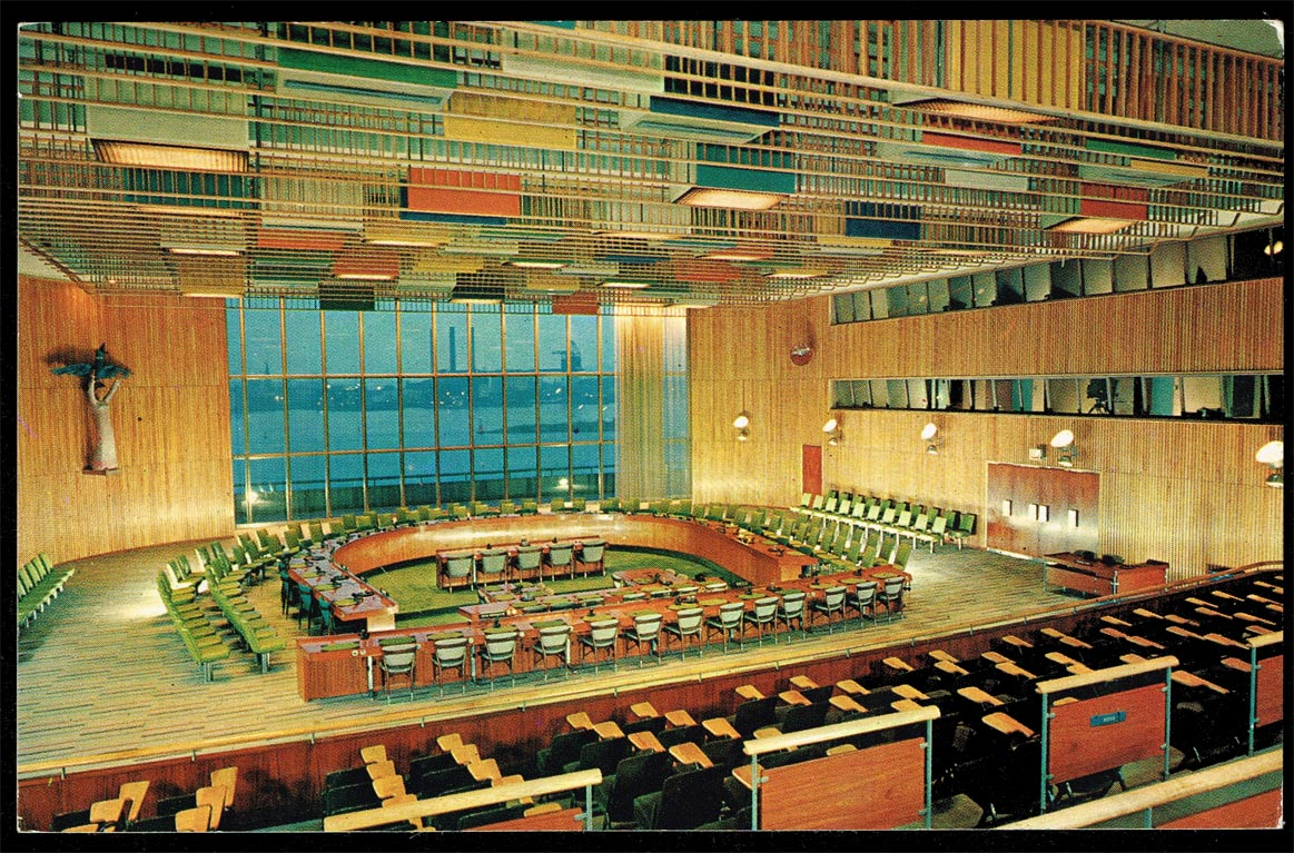 Postcard-New York-United Nations Trusteeship Council Chamber