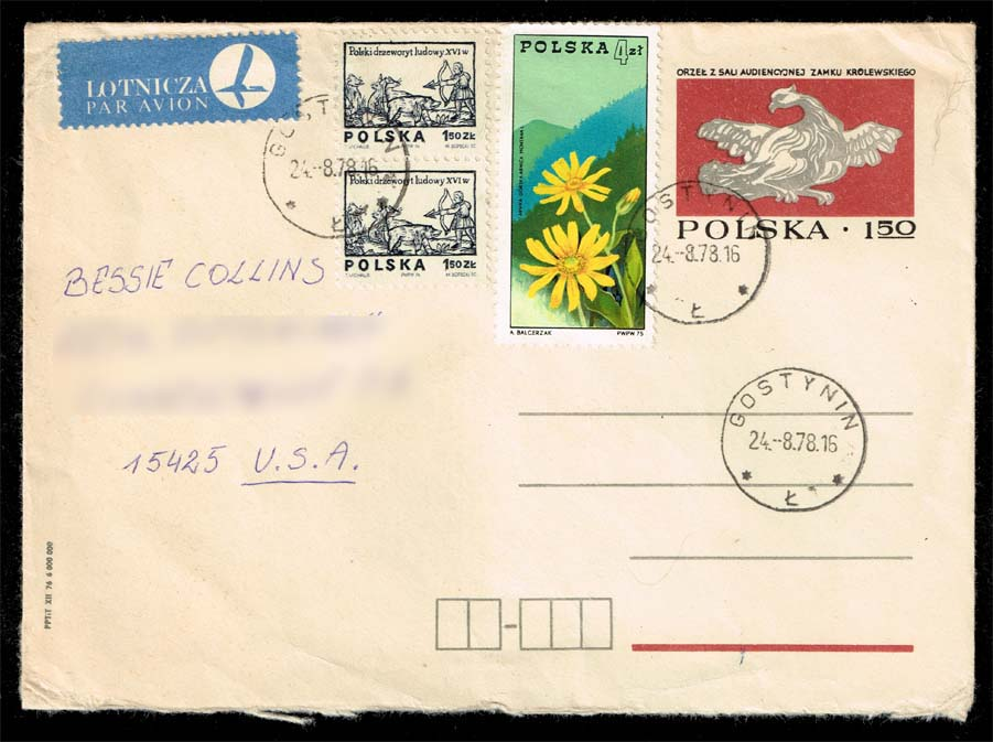 Poland #2071 and #2094 ; used on postal stationery