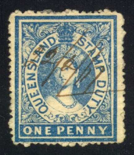 Queensland #AR1 Postal Fiscal, used (47.50)