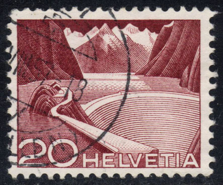 Switzerland #332 Grimsel Reservoir; used (0.25)