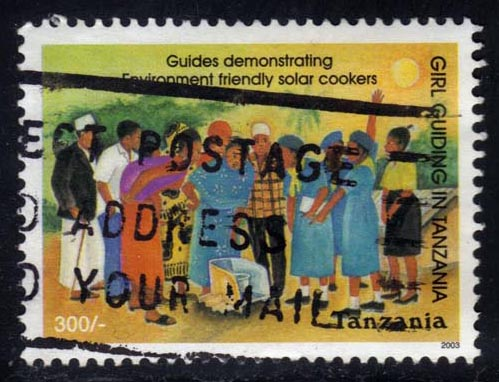 Tanzania #2300 Girl Guides 75th Anniversary, used