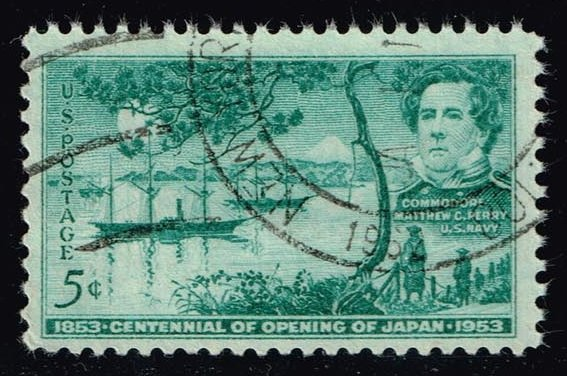US #1021 Opening of Japan; used (0.25)