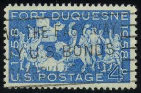 US #1123 Fort Duquesne, used (0.25)