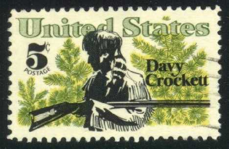 US #1330 Davy Crockett; used (0.25)