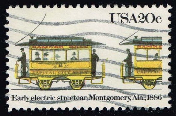 US #2060 Early Electric Streetcar; Used (0.25)